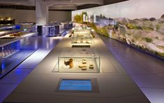 Atelier Brückner – SMAC: State Museum of Archaeology, Chemnitz, 2014 Museum Exhibition Design, Exhibition Display, Design Museum, Museum Lighting, Museum Art Gallery, Lighting Concepts, Museum Displays, Space Architecture, Display Design