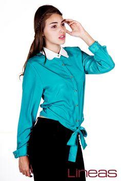 Blusa, Modelo 18623. Precio $180 MXN #Lineas #outfit #moda #tendencias #2014 #ropa #prendas #estilo #primavera #blusa