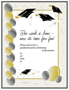 Graduation Invitation Templates 02 Free Printable Invitations Party