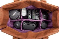 Kelly Moore Camera Bags for : Camera body, 4 lenses, flash , 3