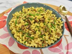 Get Pasta with Mushrooms, Walnuts, Asparagus and Apples Recipe from Food Network