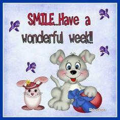 Have a wonderful week!!