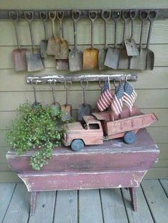 ***tiny shovels and old truck
