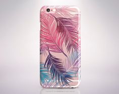 iPhone SE case Clear Palm Leaves iPhone 6s case TPU by iDedeCase