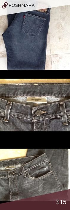 Levi's Jean Slim Straight 514 Levis for men. 34/32. Slim straight fit.black wash color. Levi's Jeans Slim Straight