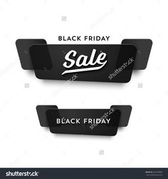 Black Friday Sale Vector Banner Set. Nice Plastic Cards In Material Design Style. Transparent Black Paper. - 343749860 : Shutterstock