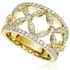 Cordis fashion diamond ring Availability: In stock Truly exceptional this fashion diamond ring feature 108 round hand picked ideal cut diamonds set in 14K Gold, total weight 0.80ctw  $1648.48