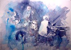 Blues - Acquerello cm. 56x76