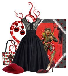 """Krampus"" by lindsey-maren-grace ❤ liked on Polyvore featuring Sole Society, Yazbukey, 1950s, holidaystyle and krampus"