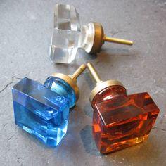 Glass Knob nathan likes blue