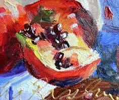 Atelier Cecilia Rosslee: French painting of pomegranates