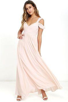 08fa96456c65b Lulus | Make Me Move Blush Pink Maxi Dress | Size X-Small | 100% Polyester