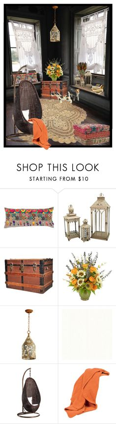 """""""BOHEMIAN LIVING!!!"""" by kskafida ❤ liked on Polyvore featuring interior, interiors, interior design, home, home decor, interior decorating, Pine Cone Hill, Pomeroy, Frontgate and Cyan Design"""