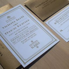 Art Deco Wedding Invitation, 1920's invitation, Roaring 20's invitation, Great Gatsby Invitation