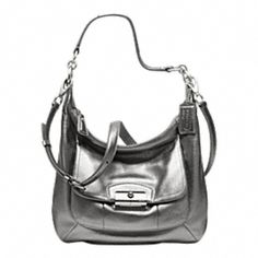 KRISTIN METALLIC LEATHER HOBO