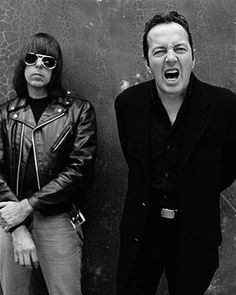 Johnny Ramone and Joe Strummer