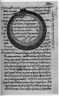 Ouroboros Greek Alchemy Text    by shelobe@flickr.com
