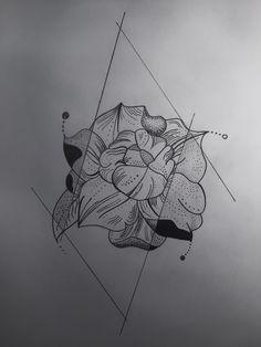 #linework #dotwork #geometric #flower #tattoo