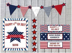 Paper & Party Supplies, 4th of July, Stars and Stripes, Patriotic, Banner