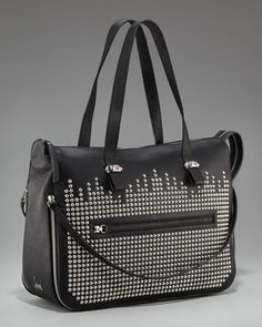 Aahhhhh... the heavens rejoice! CL bags!!!!! Edie Studded Shopping Tote by Christian Louboutin at Bergdorf Goodman.