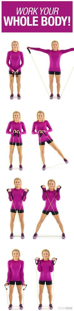 Band Full-Body Workout Grab your resistance band and get started with this total body workout.Grab your resistance band and get started with this total body workout. Fitness Workouts, Lower Ab Workouts, Sport Fitness, Butt Workout, Fitness Diet, At Home Workouts, Fitness Motivation, Health Fitness, Band Workouts