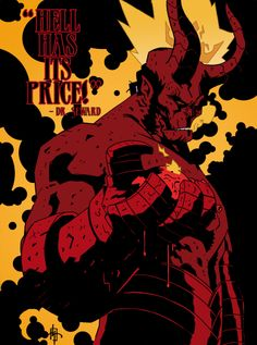 """""""Hell has its price!"""" fanart of Hellboy by Job"""