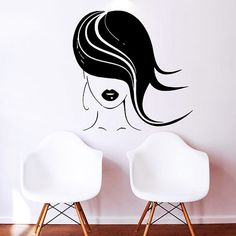 Makeup Wall Decal Vinyl Sticker Decals Home Decor Mural Make Up Girl Eyes Woman Fashion Cosmetic Hairdressing Hair Beauty Salon Decor