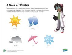LeapFrog Printable - A Week of Weather: Help your child learn about the patterns of nature by recording the weather for a week.