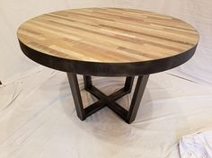 Items similar to Ready to ship! Industrial Rustic Dining Table with Mixed Wood on Etsy Rustic Industrial, Decoration, Dining Table, Ship, Wood, Furniture, Vintage, Home Decor, Products