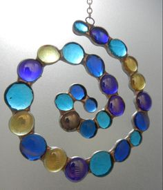 Van Gogh's Starry Night Nugget Suncatcher / Shattered by Light / Unique stained designs by Roz http://shatteredbylight.com/