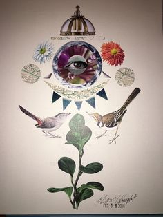 Collage I did inspired by Ruth Crone Foster