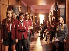 House of Anubis - THE best kid's TV show out there!    Here we have: Nathalia Ramos as Nina Martin, Brad Kavanagh as Fabian Rutter, Alex Sawer as Alfie Lewis, Ana Mulvoy-Ten as Amber Millington, Jade Ramsey as Patricia Williamson, Klariza Clayton as Joy Mercer, Eugene Simon as Jerome Clarke, Burkley Duffield as Eddie Miller,  Bobby Lockwood as Mick Campbell and Tasie Dhanraj as Mara Jaffray.