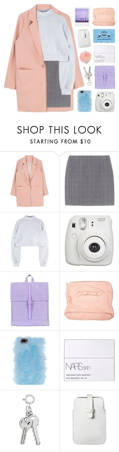 """labor of my love"" by seoul-searching ❤ liked on Polyvore featuring CASSETTE, Fujifilm, Herschel Supply Co., Front Row Shop, Skinnydip, NARS Cosmetics and Mossimo"