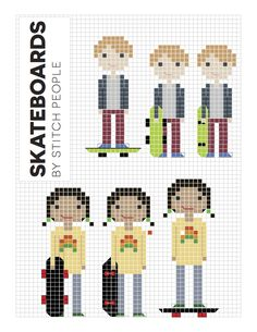 """These extra patterns are free for purchasers of """"Do-It-Yourself Stitch People."""" They are patterns that have been created since the publication of the book, but"""