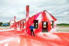 Image result for far rockaway house art installation
