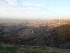 Casas de San Galindo. Vista del Valle del Henares, al atardecer,