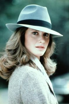 Stephanie Zimbalist as Laura Holt in Remington Steele - The hat was her idea and she looked great in it! Description from pinterest.com. I searched for this on bing.com/images