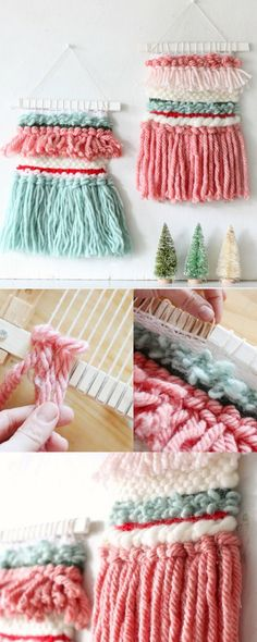 DIY Woven Holiday Wall Hanging