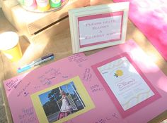 Guest book - Pink lemonade birthday party