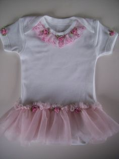 pink tutu onesie dress baby girl