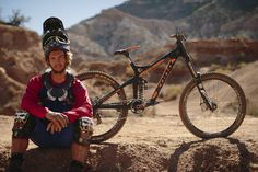 Antoine Bizet at RedBull Rampage 2015 Virgin Utah USA