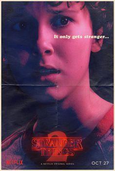 #StrangerThings - Season 2, Character poster of Eleven.