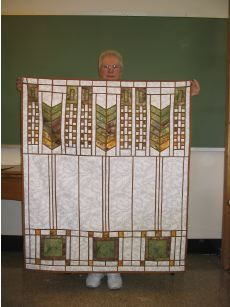 Frank Lloyd Wright window 2...a great way to honor him...use your quilting skills...