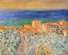 Клод Моне - Burgo Marina at Bordighera, 1884. Клод Оскар Моне
