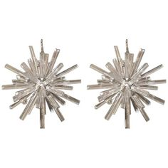 A Pair of Venitian Snowflake Murano Chandeliers  Italy 1960  Imagine these over your dining room table. Droooool.