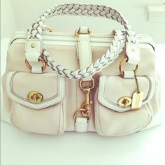 FOR SALE! Shop my closet! Coach Handbags - Coach Canvas and Patent Leather Duffle