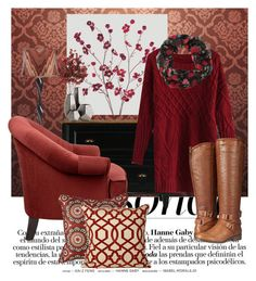 """Pantone of Marsala"" by joyfulnoise1052 on Polyvore featuring interior, interiors, interior design, home, home decor, interior decorating, Universal Lighting and Decor, Pacific Coast, Angelo and Jiti"