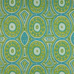 Kayla Aqua color. 59% Linen, 41% Polyester. Could make a great pillow.