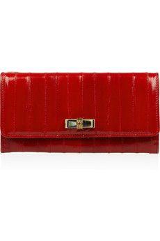 Lanvin clutch in lipstick red.