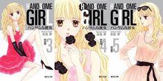 Shueisha relanza la edición de bolsillo/bunkoban de Handsome Girl de Wataru Yoshizumi (Marmalade Boy/La familia crece). La primera edición en formato de bolsillo salió a la venta en 2003 y más de una década después la editorial ha rediseñado las portadas con ilustraciones exclusivas para la ocasión realizadas por la autora original.